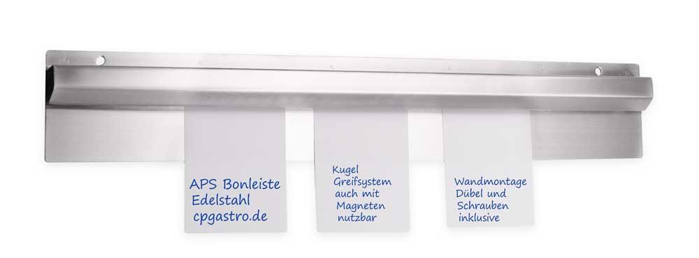 Bonleiste Edelstahl 90 cm Kugelsystem Klemmleiste Bonschiene Zettelleiste PROFI