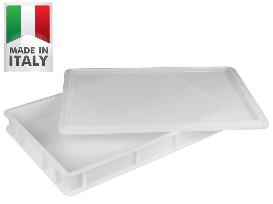 10 Stück Pizzateigbehälter Teigkiste Teigbox 60 x 40 x 7 cm ECO Gastlando
